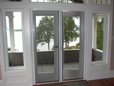 retractable french screen door