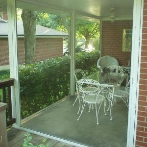 Large retractable porch screens M46 (Double) Horizontal Slide