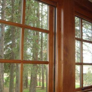 Wood Window Retractable Screens