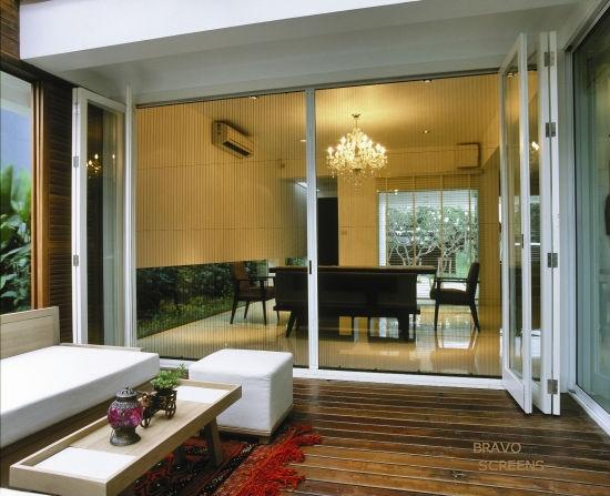 retractable screens for folding doors