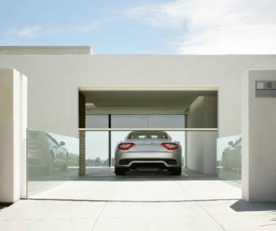 motorized retractable garage screens