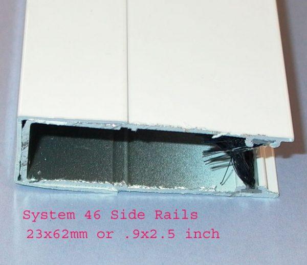 System 46 Side Rail bravoscreens